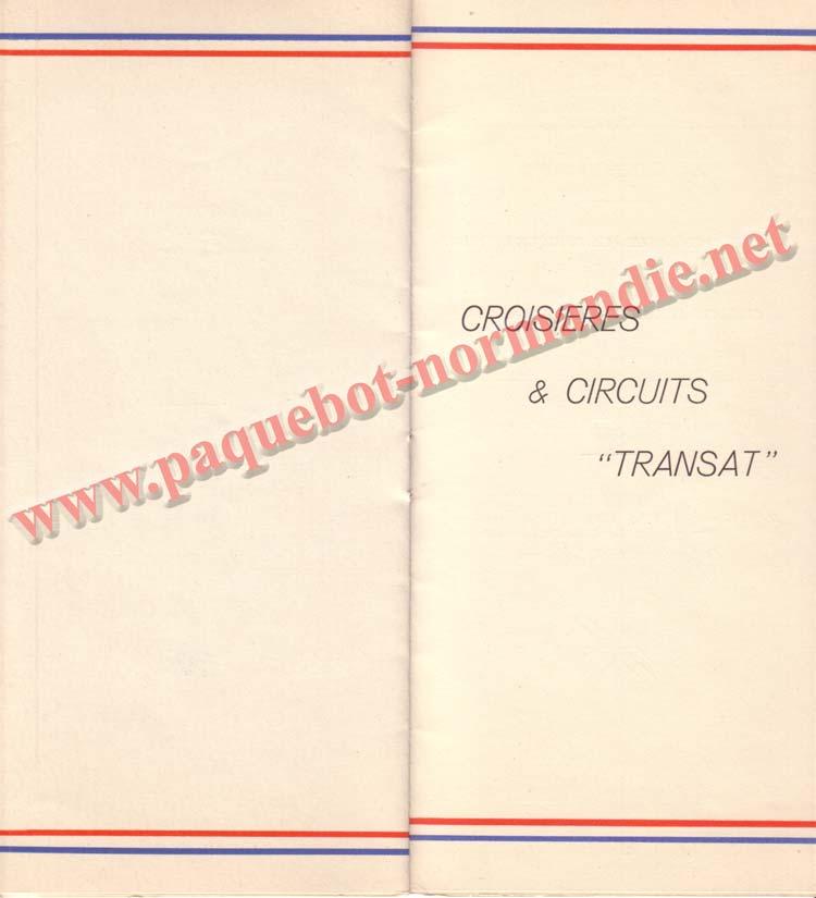 PAQUEBOT NORMANDIE - LISTE DES PASSAGERS DU 3 NOVEMBRE 1937 - 1ère CLASSE / 1-7