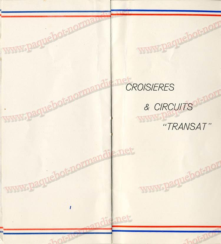 PAQUEBOT NORMANDIE - LISTE DES PASSAGERS DU 04 AOUT 1937 - 1ère CLASSE / 1-7