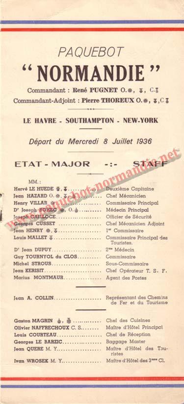 LISTE PASSAGERS DU 8 JUILLET 1936 / 1-1