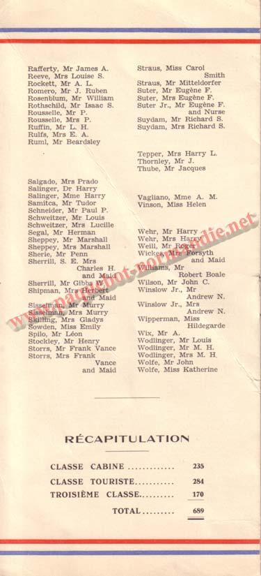 LISTE PASSAGERS DU 8 JUILLET 1936 / 1-3