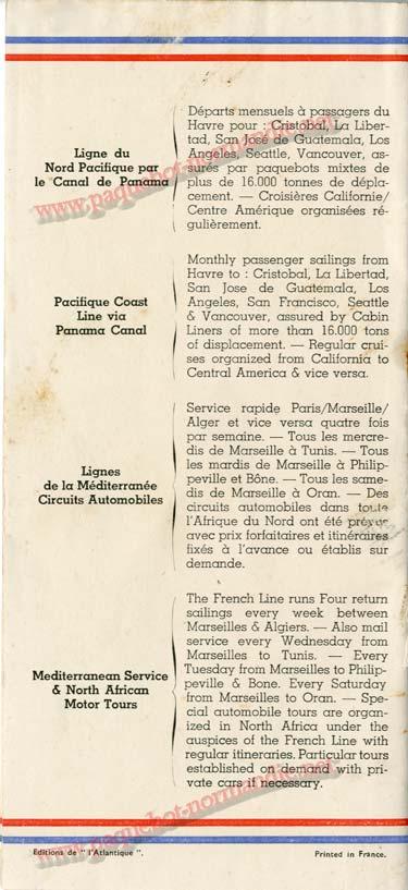 S.S NORMANDIE - LISTE DES PASSAGERS 1ère CLASSE DU 10 JUILLET 1935 - 1-9