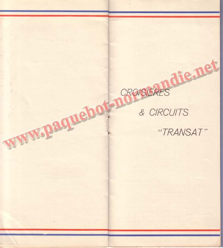 PAQUEBOT NORMANDIE - LISTE DES PASSAGERS DU 13 JUILLET 1938 - 2ème CLASSE / 2-7