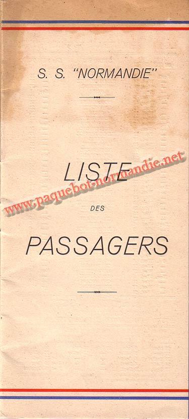 LISTE PASSAGERS DU 14 AVRIL 1937 - 3ème CLASSE / 3-1