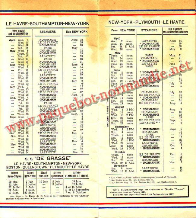 LISTE PASSAGERS DU 14 AVRIL 1937 - 3ème CLASSE / 3-2