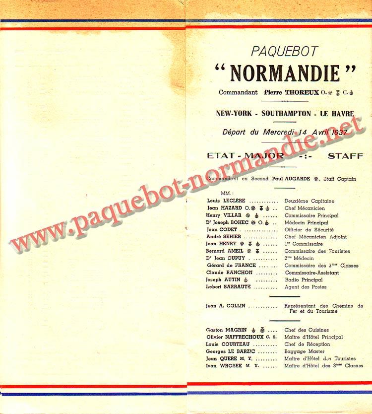 LISTE PASSAGERS DU 14 AVRIL 1937 - 3ème CLASSE / 3-3