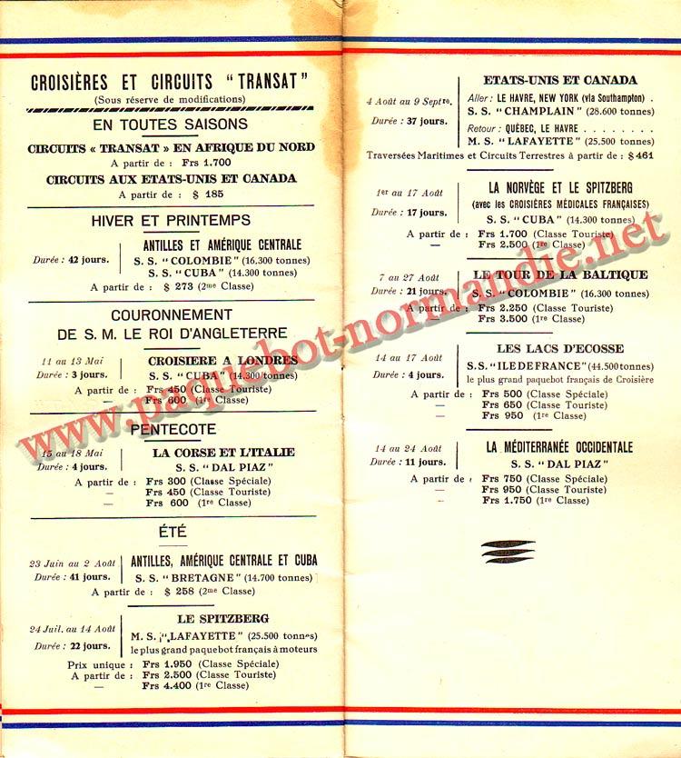 LISTE PASSAGERS DU 14 AVRIL 1937 - 3ème CLASSE / 3-6
