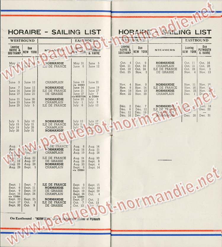 S.S NORMANDIE - LISTE PASSAGERS DU 14 JUIN 1939 - 3ème CLASSE / 3-2