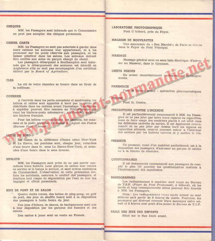 PAQUEBOT NORMANDIE - LISTE DES PASSAGERS DU 15 JUIN 1938 - 1ère CLASSE / 1-8
