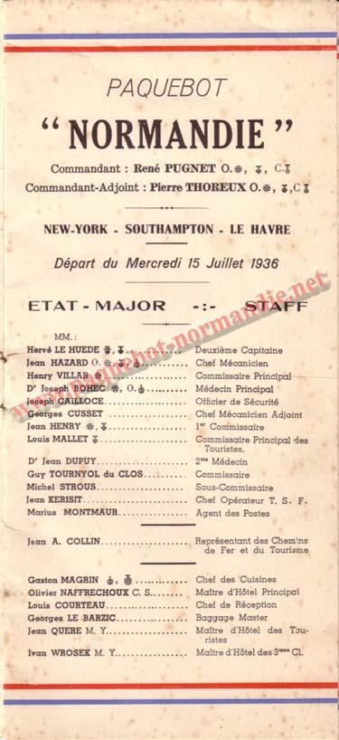LISTE PASSAGERS DU 15 JUILLET 1936 / 3-1