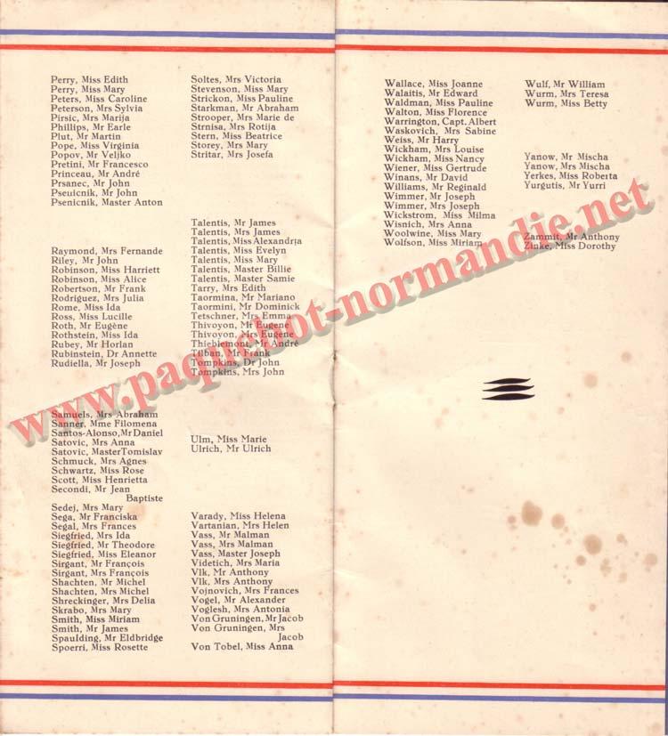 LISTE PASSAGERS DU 15 JUILLET 1936 / 3-4