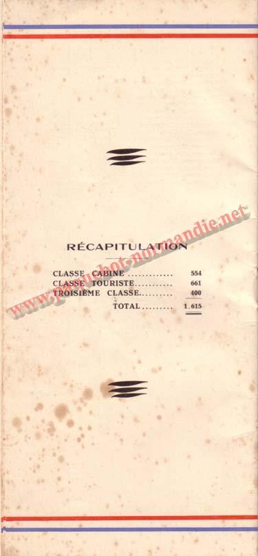 LISTE PASSAGERS DU 15 JUILLET 1936 / 3-5