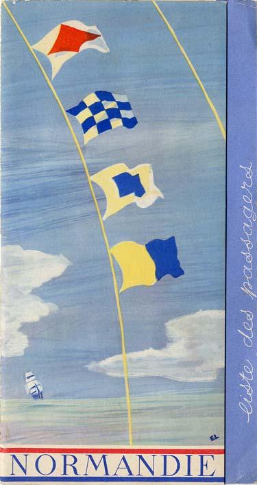 Paquebot s/s Normandie - LISTE PASSAGERS 16.08.39 / 2-1