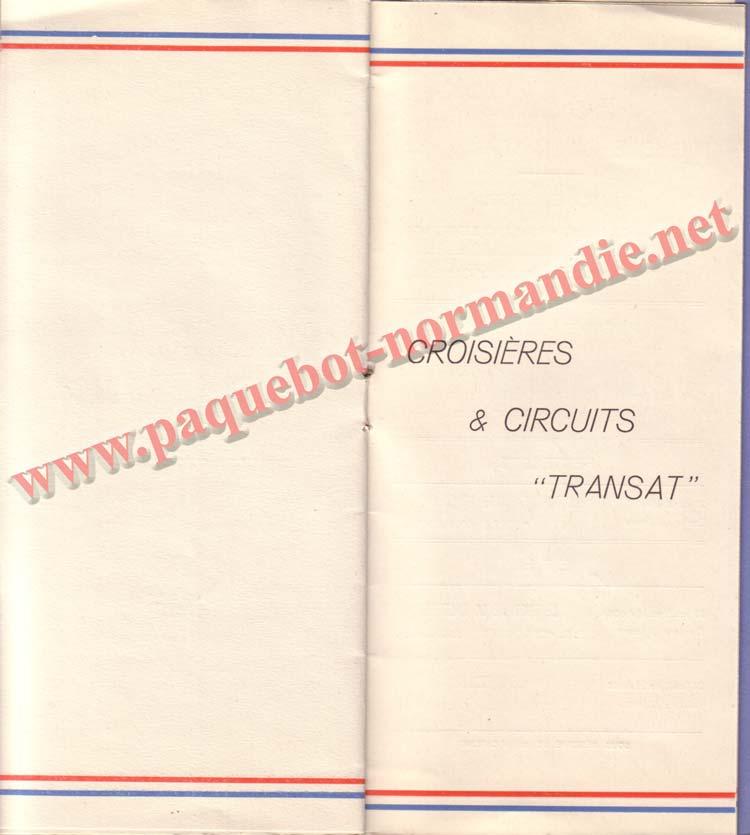 PAQUEBOT NORMANDIE - LISTE DES PASSAGERS DU 17 MAI 1939 - 2ème CLASSE / 2-7