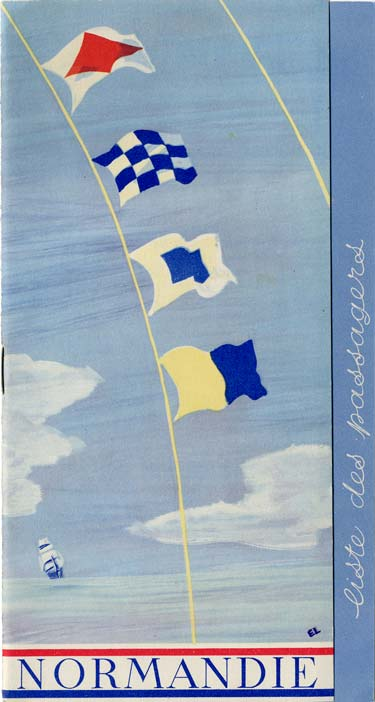 PAQUEBOT S.S NORMANDIE - PASSENGER LIST - LISTE DES PASSAGERS DU 17 JUIN 1936 - CLASSE TOURISTE / 2-1