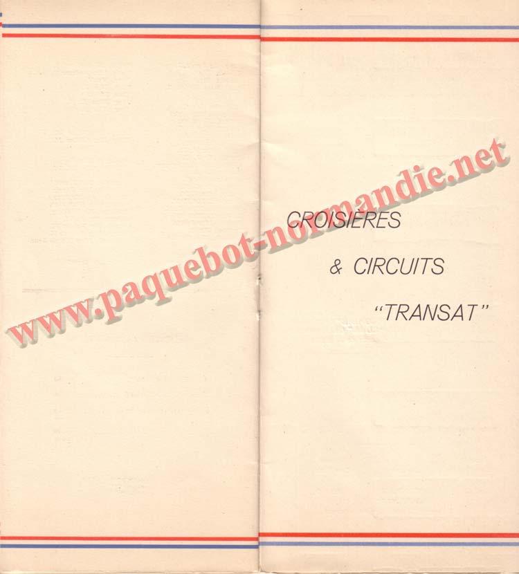 PAQUEBOT NORMANDIE - LISTE DES PASSAGERS DU 21 SEPTEMBRE 1938 - 2ème CLASSE / 2-7