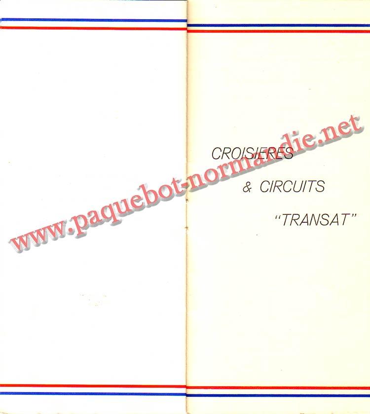 PAQUEBOT NORMANDIE - LISTE PASSAGERS DU 23 JUIN 1937 - 2ème CLASSE / 2-7
