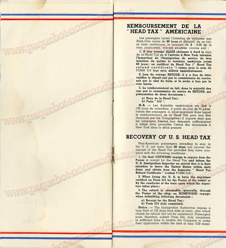 Paquebot s/s Normandie - LISTE PASSAGERS - PASSENGERS LIST 24.07.35 / 1-7