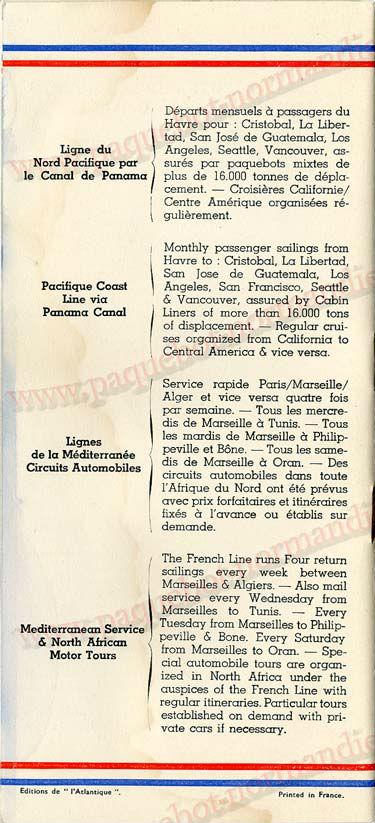 Paquebot s/s Normandie - LISTE PASSAGERS - PASSENGERS LIST 24.07.35 / 1-9