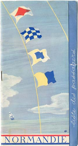 Paquebot s/s Normandie - LISTE PASSAGERS 26.08.36 / 1-1
