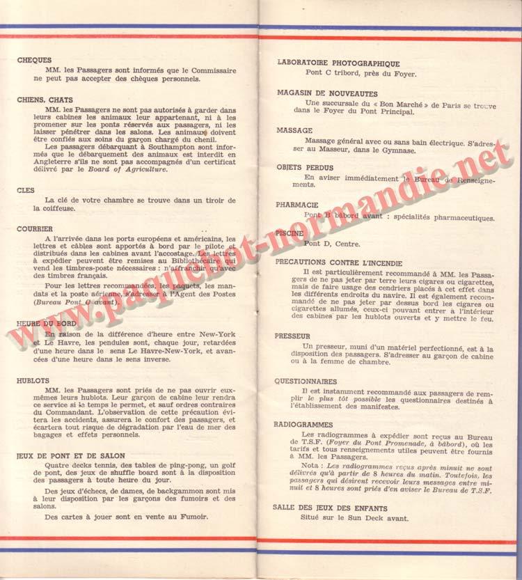 PAQUEBOT NORMANDIE - LISTE DES PASSAGERS DU 27 AVRIL 1938 - 1ère CLASSE / 1-8