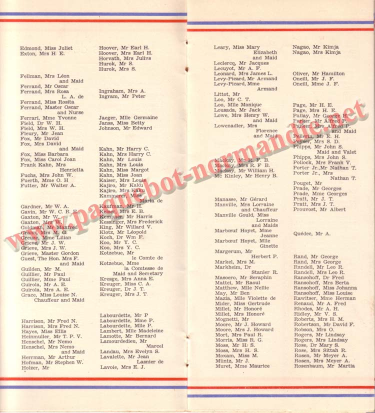 LISTE PASSAGERS 27-05-36 / 1-2-3