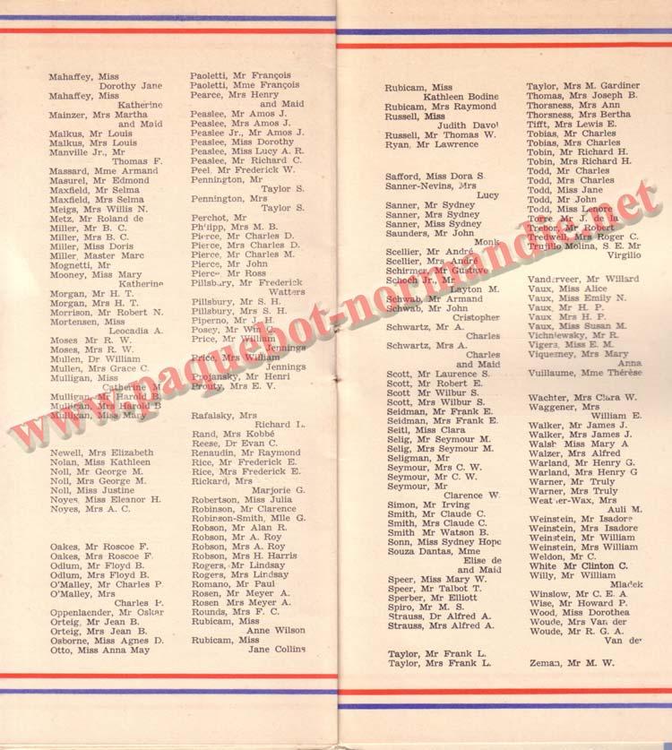 LISTE PASSAGERS DU 29 JUILLET 1936 / 1-4