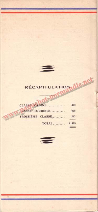 LISTE PASSAGERS DU 29 JUILLET 1936 / 1-5