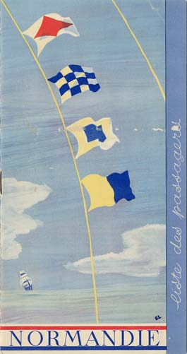 Paquebot s/s Normandie - LISTE PASSAGERS 30.09.36 / 2-1