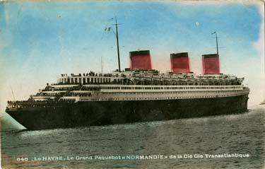 PAQUEBOT S.S NORMANDIE - Carte postale glacée couleurs Editeur MEUNIER Edtion Réf. MEUCOG 1-646 PSB
