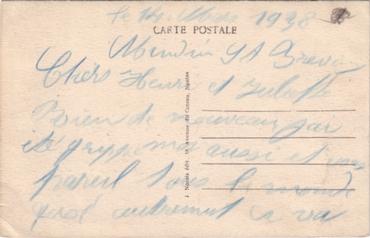 S.S NORMANDIE - Carte postale couleurs classique Edition NOZAIS - Réf. 1-3 Verso
