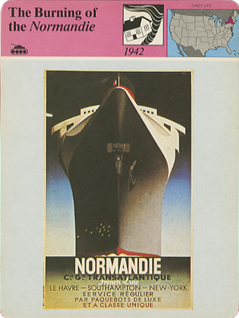 Paquebot Normandie - Fiche déditeur de collection PANARIZON PUBLISHING Corp. - USA