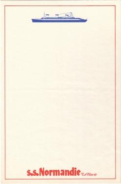 PAQUEBOT - S.S NORMANDIE - PAPIER A LETTRE EDITEUR ANONYME 2-1