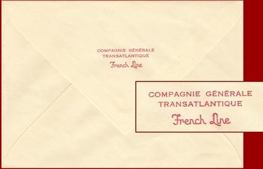 Paquebot Normandie - Enveloppe de correspondance à bord