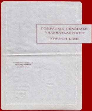 PAQUEBOT NORMANDIE - CARTE-LETTRE PAPIER BLEU AVEC EN-TETE EXTERIEUR 4-2