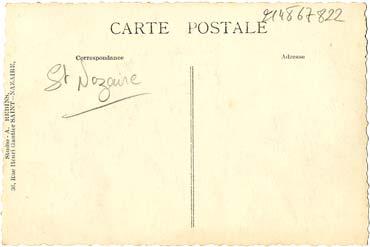 PAQUEBOT S.S NORMANDIE - Carte postale classique Noir et Blanc - Editeur STUDIO REBINS - Réf. REBINSC 3-1 PS