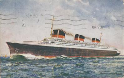 Paquebot Normandie - Carte postale Angleterre - Editeur SALMON - SEVENOAKS -