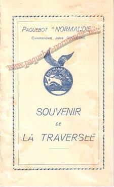 PAQUEBOT NORMANDIE - Carte-souvenir de la traversée du 3 AU 8 AOUT 1938 - 1