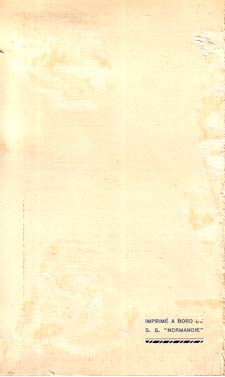 PAQUEBOT NORMANDIE - Carte-souvenir de la traversée du 3 AU 8 AOUT 1938 - 3