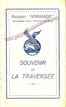 PAQUEBOT NORMANDIE - Carte-souvenir de la traversée du 7 au 12 Juin 1937 - 1