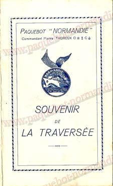 PAQUEBOT NORMANDIE - Carte-souvenir de la traversée du 8 au 12 Décembre 1937 - 1