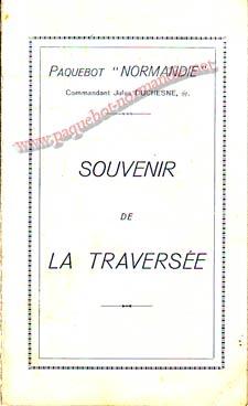 PAQUEBOT NORMANDIE - Carte-souvenir de la traversée du 14 au 19 JUIN 1939 - 1