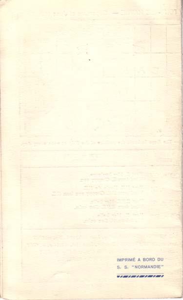 PAQUEBOT NORMANDIE - Carte-souvenir de la traversée du 16 au 20 Juin 1936 - 3