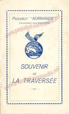 PAQUEBOT NORMANDIE - Carte-souvenir de la traversée du 18 au 23 Aout 1937 - 1