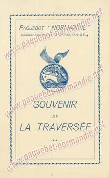PAQUEBOT NORMANDIE - Carte-souvenir de la traversée du 19 au 23 Mai 1937 - 1