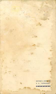 PAQUEBOT NORMANDIE - Carte-souvenir de la traversée du 21 au 25 Avril 1937 - 3