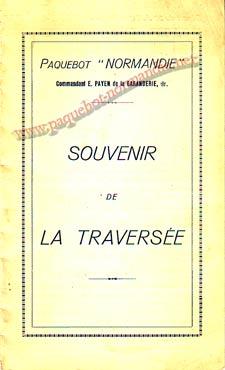 PAQUEBOT NORMANDIE - Carte-souvenir de la traversée du 26 au 31 JUILLET 1939 - 1