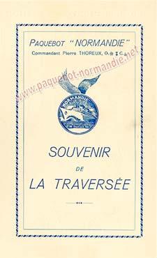 PAQUEBOT SS NORMANDIE - Carte-souvenir de la traversée du 28 Juillet au 1er Aout 1937 - 1