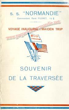 PAQUEBOT NORMANDIE - Carte-souvenir de la traversée du 29 MAI AU 3 JUIN 1935 - 1