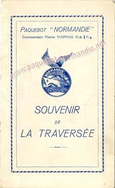 PAQUEBOT NORMANDIE - Carte-souvenir de la traversée du 4 au 8 Aout 1937 - 1