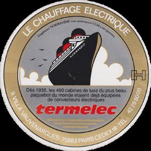 Paquebot Normandie - Autocollant TERMELEC